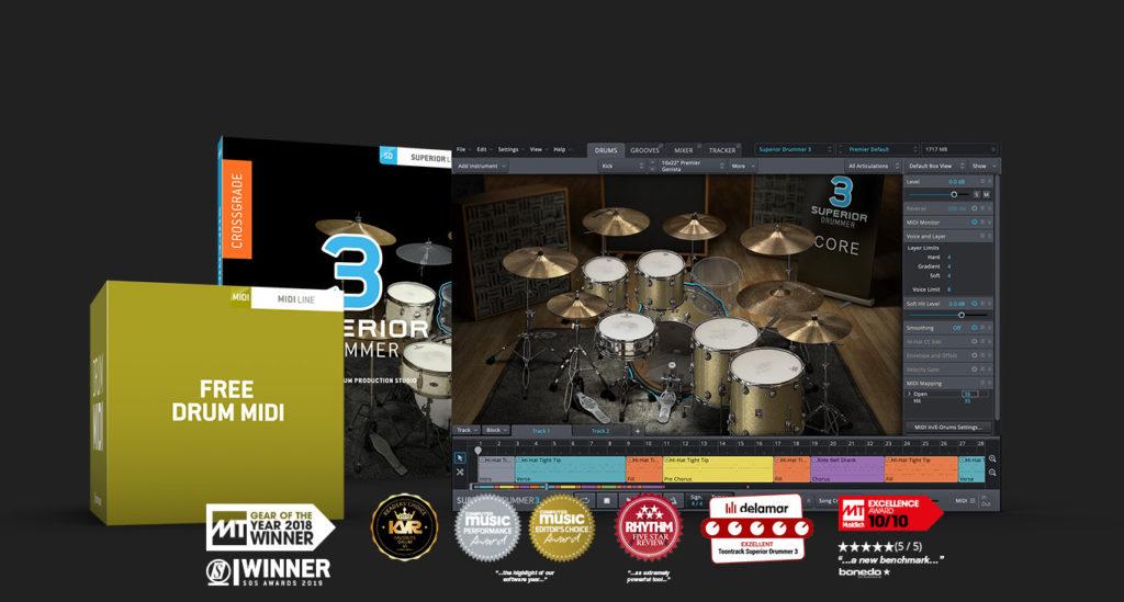 【セール】TOONTRACK社はドラム音源「SUPERIOR DRUMMER 3」の発売3周年を記念したプロモーションを開催中。【DTM/ソフトウェア音源】