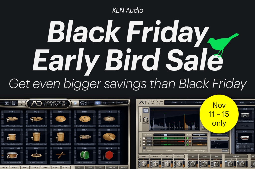 【セール】XLN Audio社がブラックフライデー アーリーバードセールを開催中!対象製品が50%オフ!【DTM/ドラム音源】